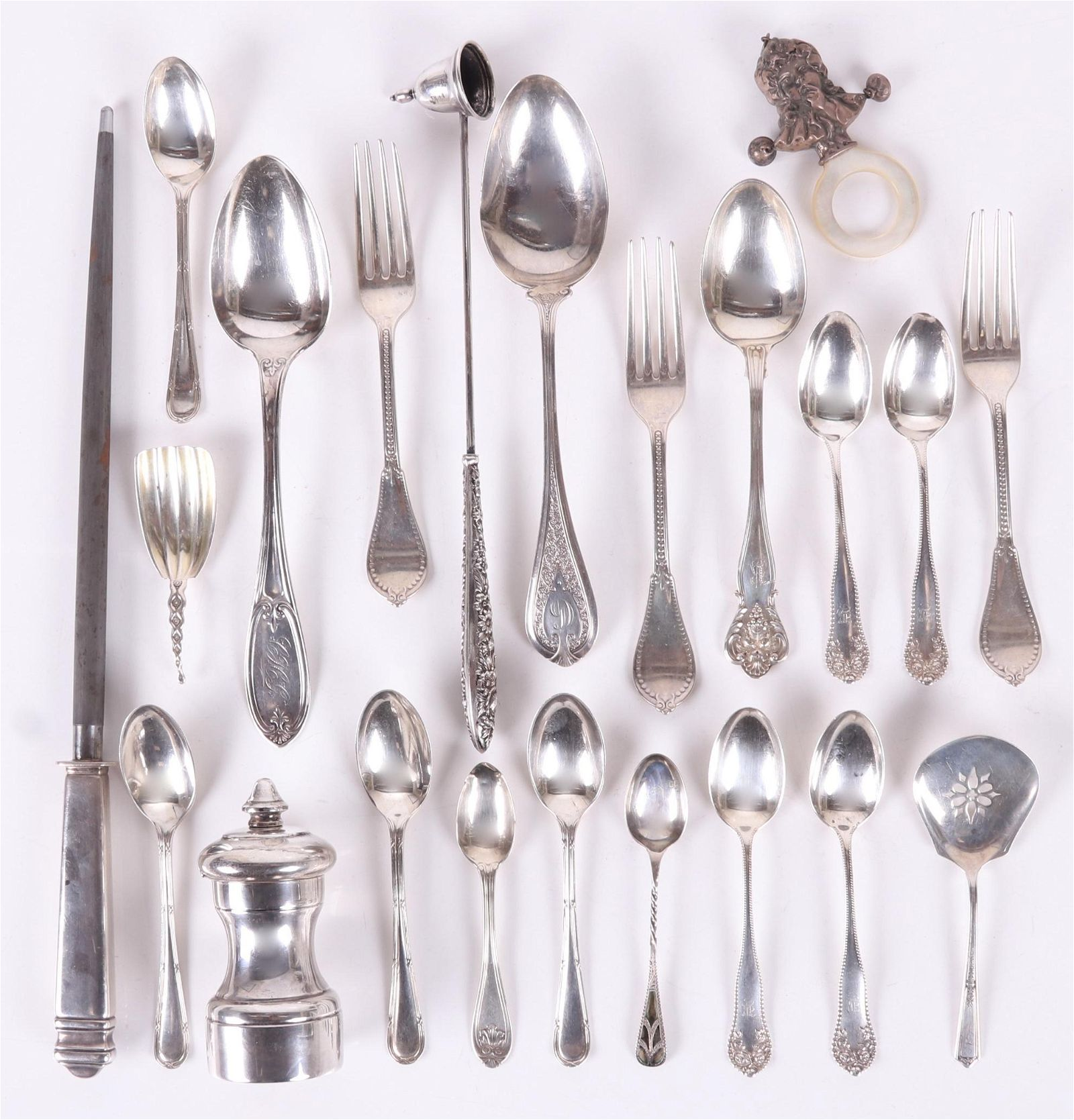 Group of Sterling and Coin Silver Flatware, etc.
