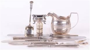 British Sterling Silver Tableware, Georgian, Etc.