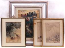Chinese School 20th Century Four Paintings