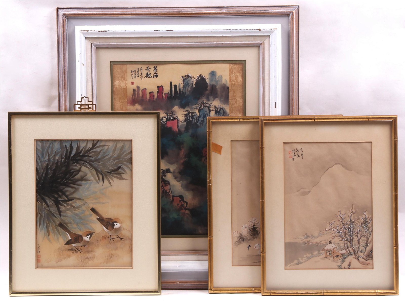 Chinese School (20th Century) Four Paintings