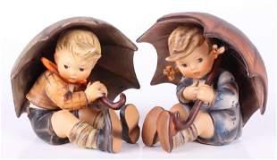Hummel Figures by Goebel, Umbrella Boy and Girl