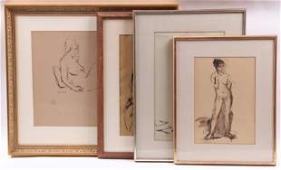 Seymour Remenick (Amer 1923-1999) Four Nude Sketches