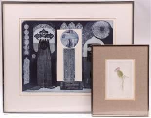 Sara Amatniek (American 1922-1996) Two Etchings