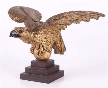 A Carved Giltwood Pilot House Eagle