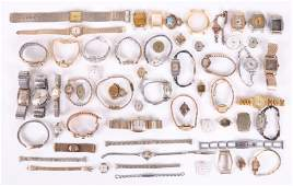 A Large Group of Watches and Watch Parts