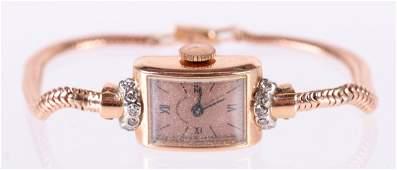 A Movado 14k Rose Gold Ladies Wristwatch