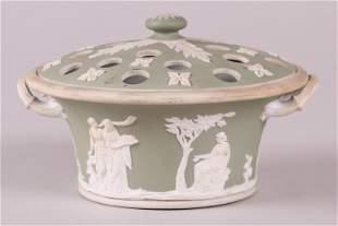 A Wedgwood Green Jasper Dip Bough Pot
