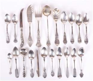 A Group of Sterling Silver Flatware