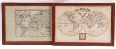 Two 18th Century French World Maps