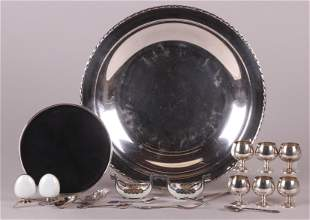 A Group of Sterling and Enamel Items