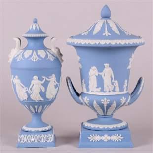 Two Wedgwood Jasperware Urns
