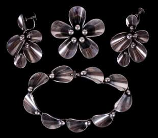 A Set of Danish Sterling Jewelry by N.E. From