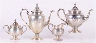 A Four Piece Sterling Silver Tea Set
