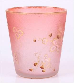 A Daum Nancy Cameo Glass Vase