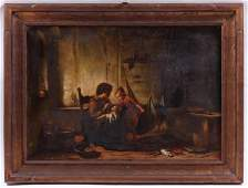 Continental School, 19th Century Oil on Canvas