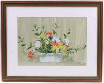 Taylor Oughton (Born 1925) Acrylic on Paper
