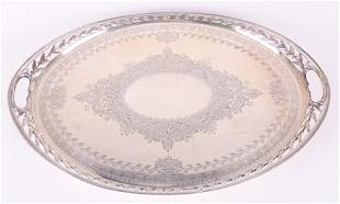 A Large Sterling Silver Tray, Frederick Elkington