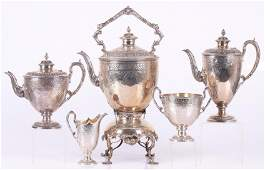 An English Sterling Tea Service, 19th Century