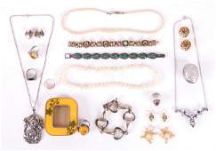 Group of Sterling and Costume Jewelry
