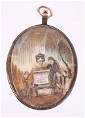 An American Gold Mourning Pendant