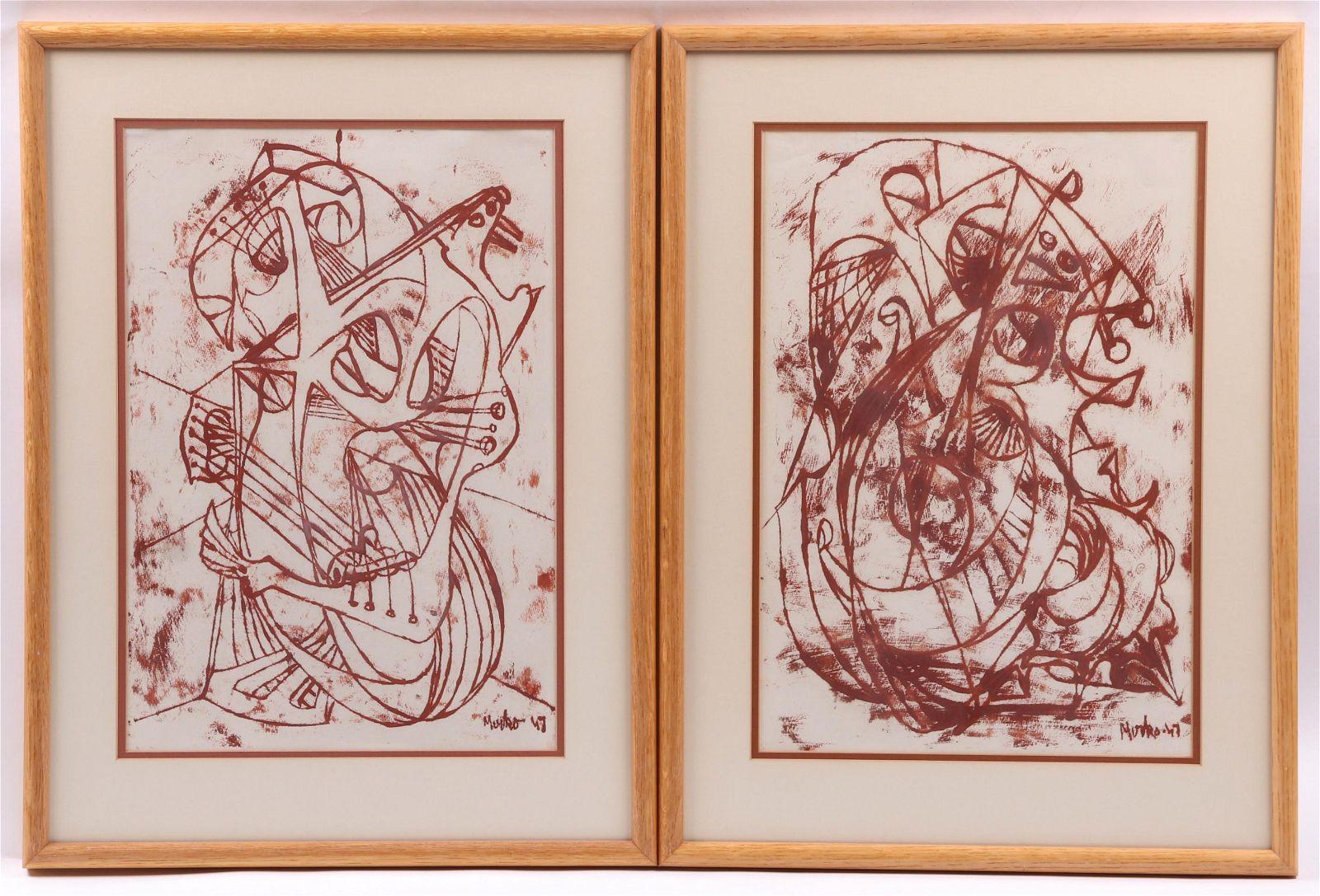 Mirko Basaldella (1910 - 1969) Two Prints