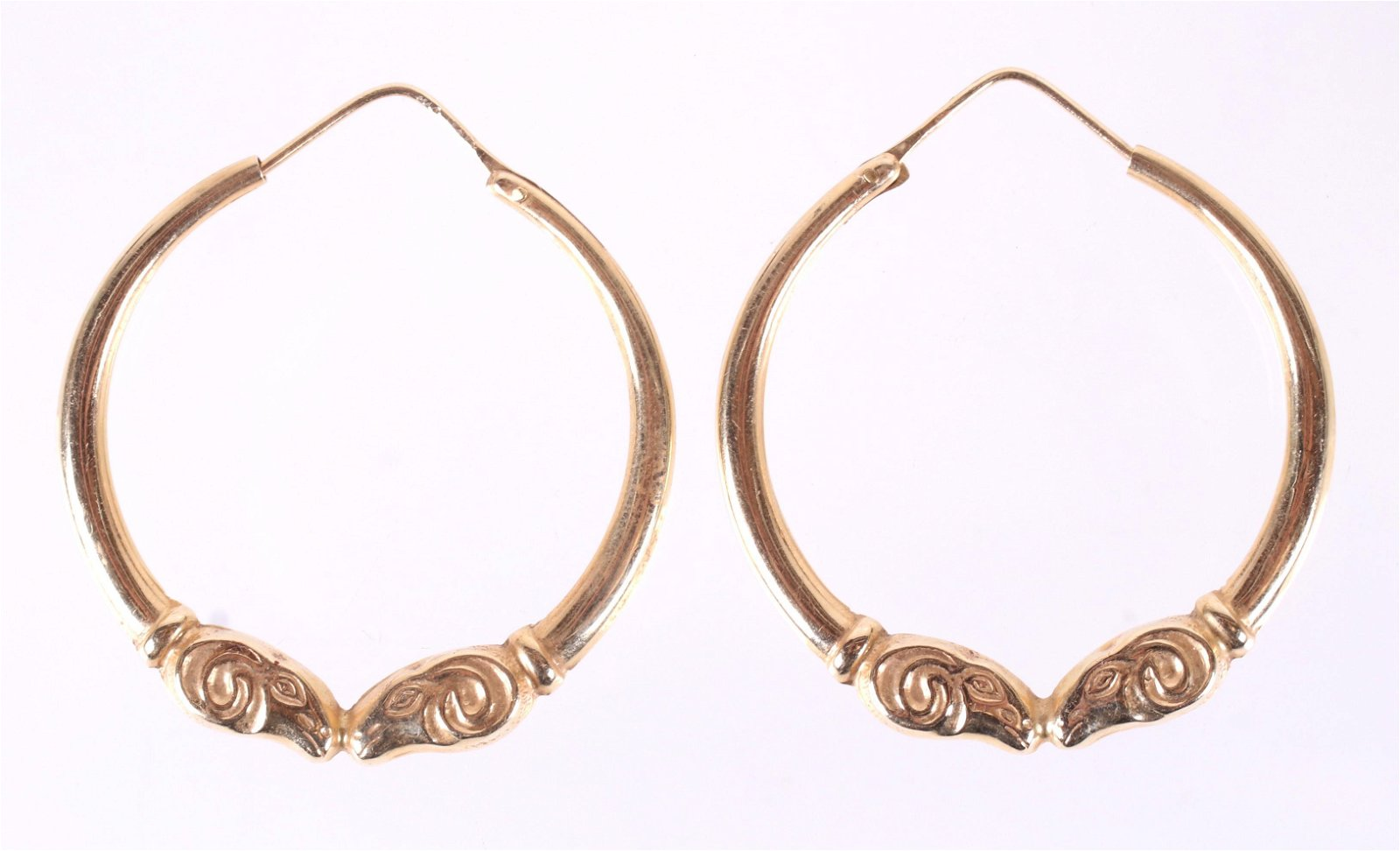 A Pair of 14k Gold Earrings