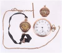 Two Gold Filled Watches and Chain