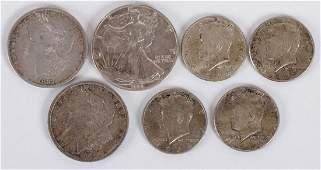 Seven American Silver Coins