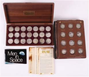 Danbury Mint, Civil War Medals, Sterling