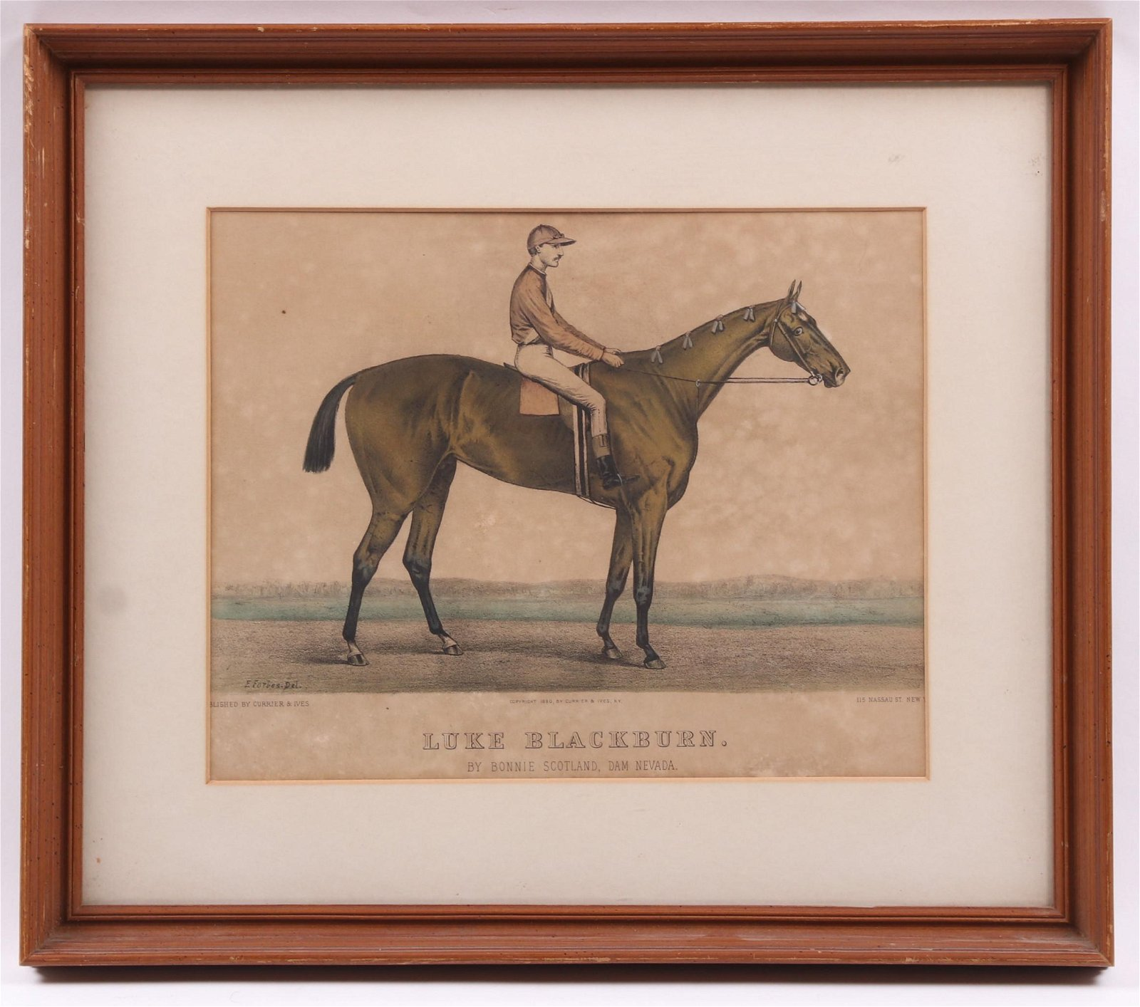 Currier and Ives Horse Lithograph, Luke Blackburn