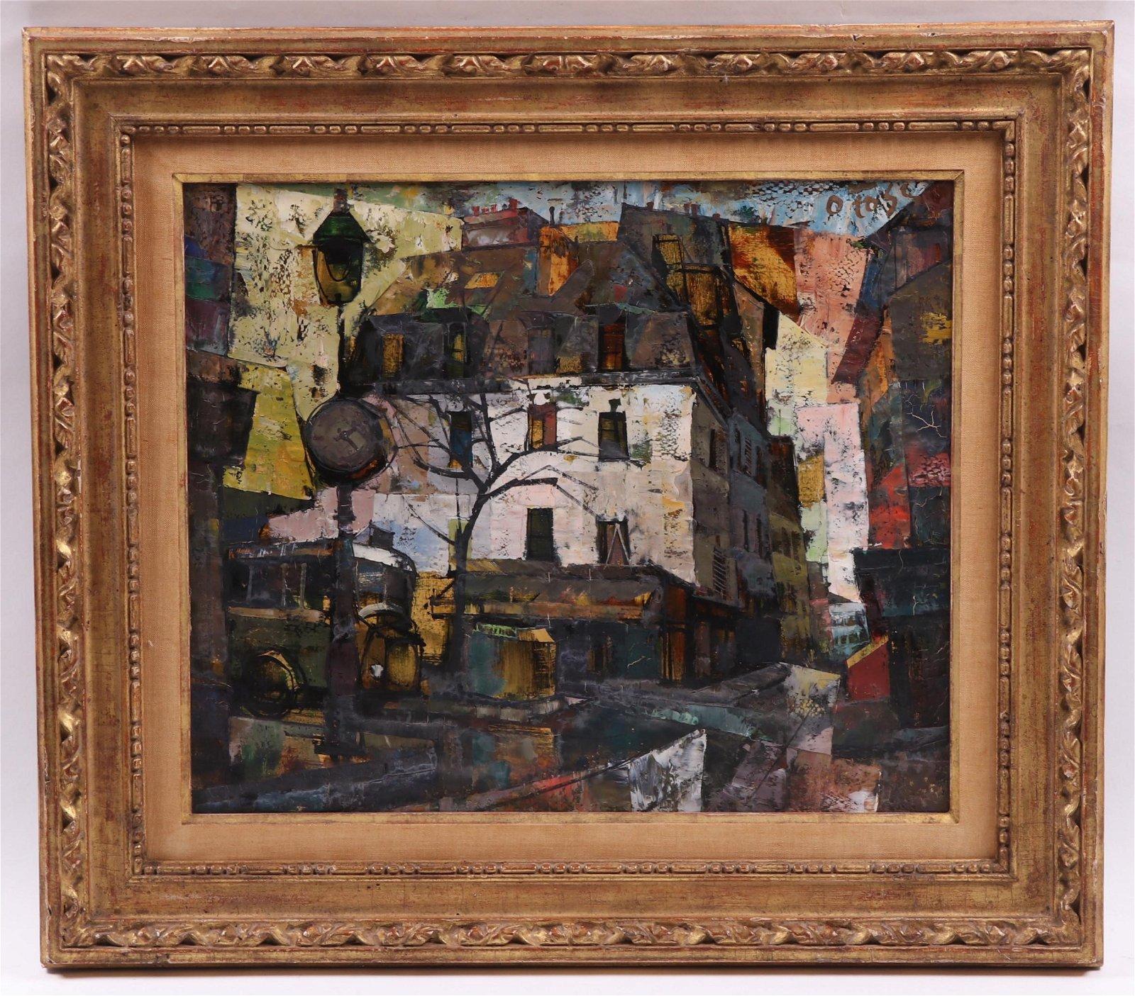 Olivier Foss (1920 - 2002) Oil on Canvas