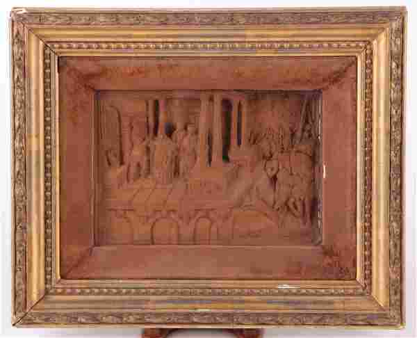 An Antique Carved Panel, Continental