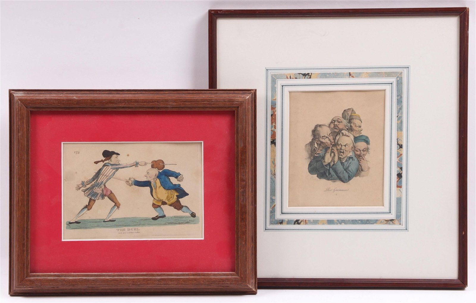 Two Early Hand Tinted Prints