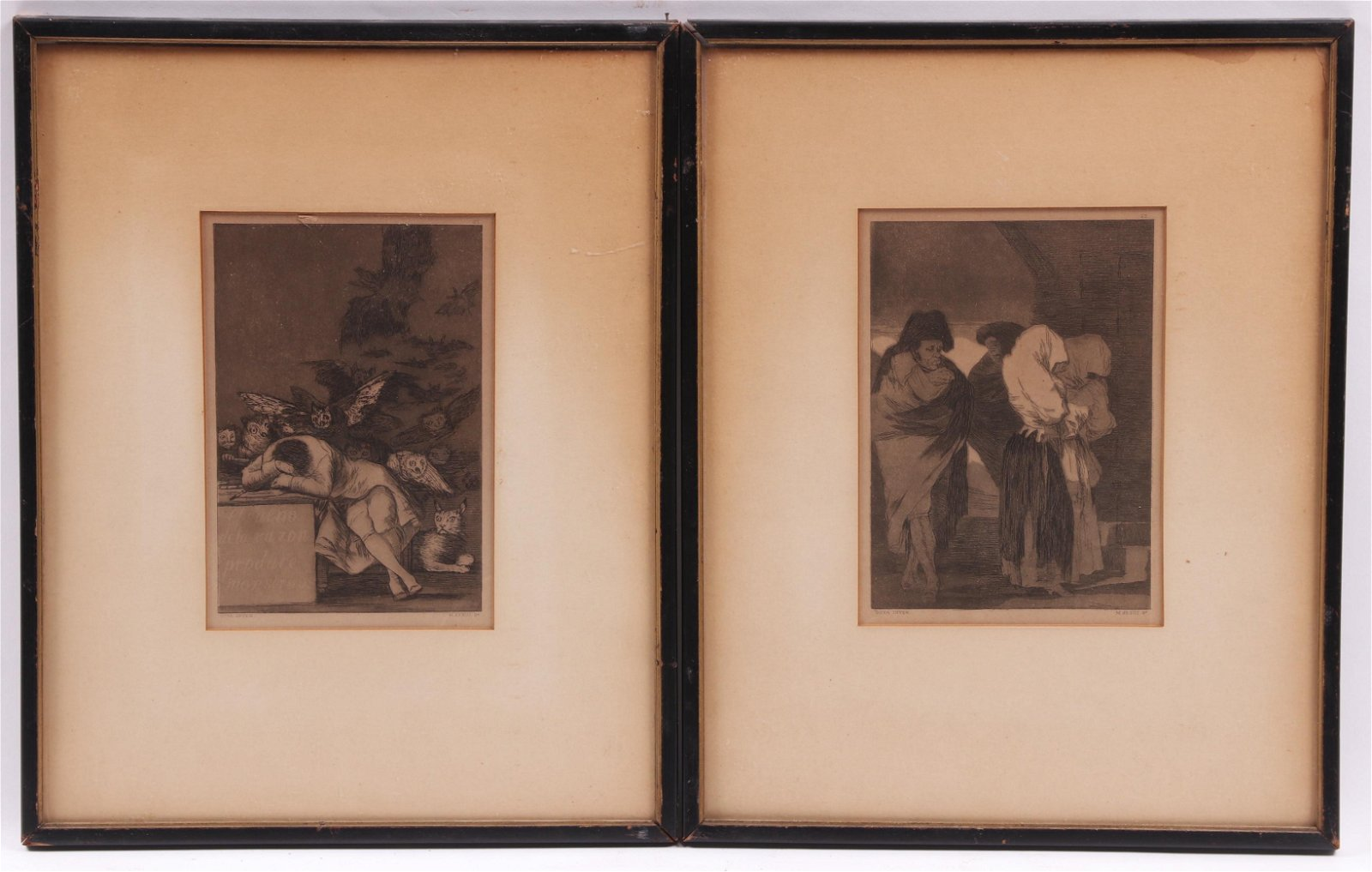 Miguel Segui After Goya, Two Etchings
