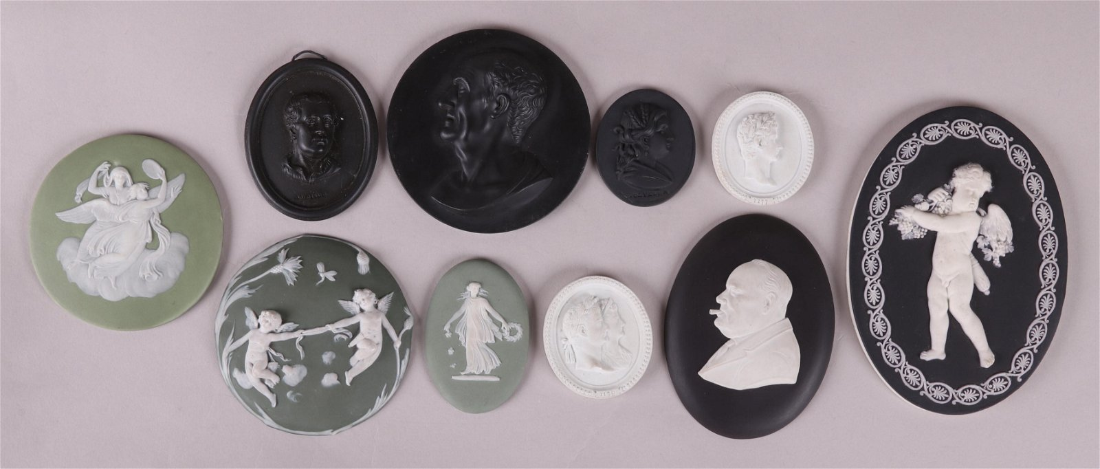 A Collection of Wedgwood Plaques, Medallions
