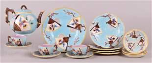 A 19th Century English Majolica Tea Set