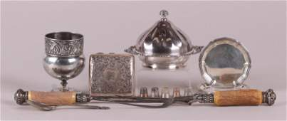 A Group of Estate Silver and Silver Plate, Gold