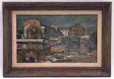 Giovanni Martino (1908 - 1997) Oil-Tempera on Board