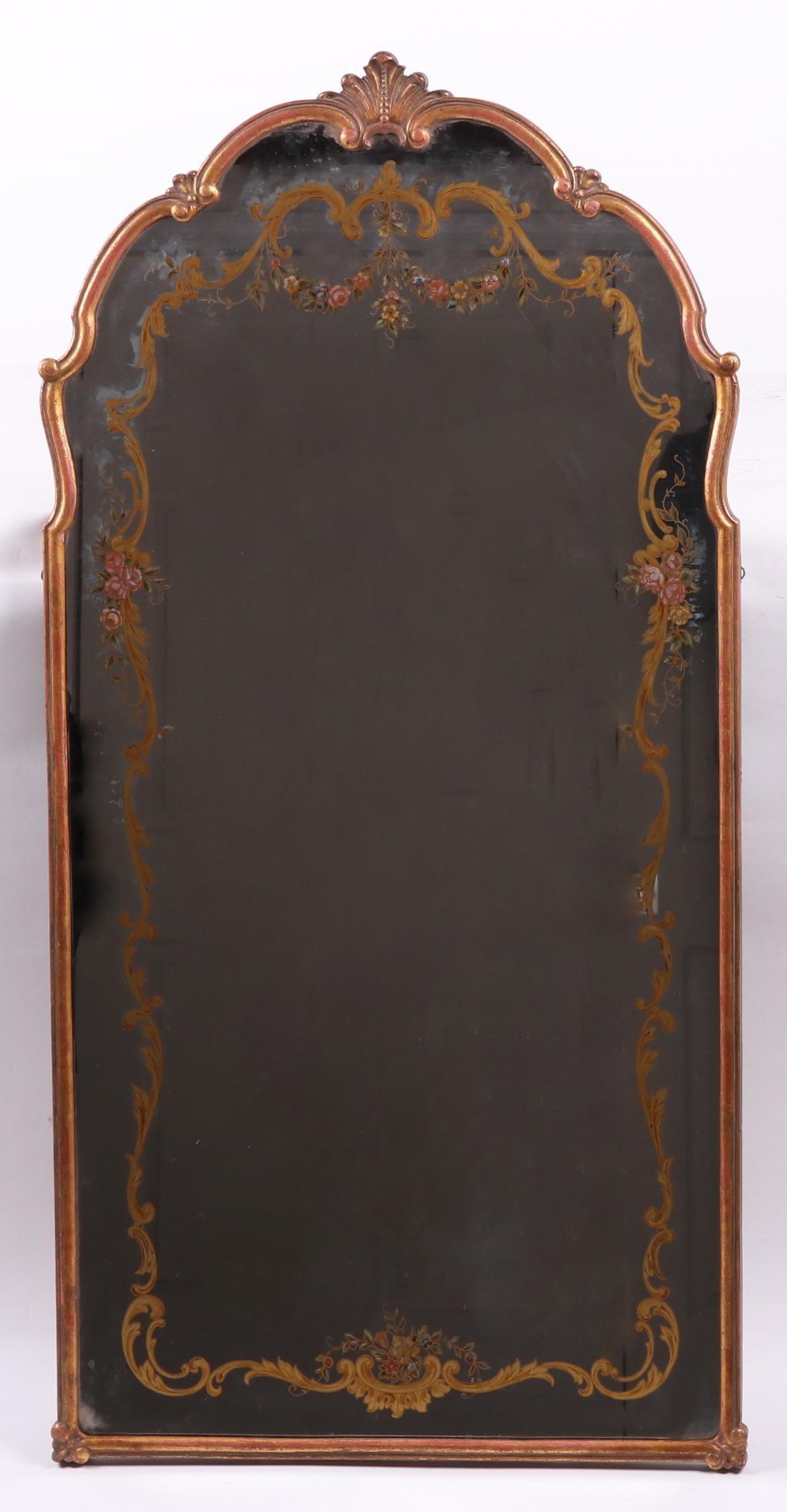 A Jansen Type Gilt Bronze Mirror