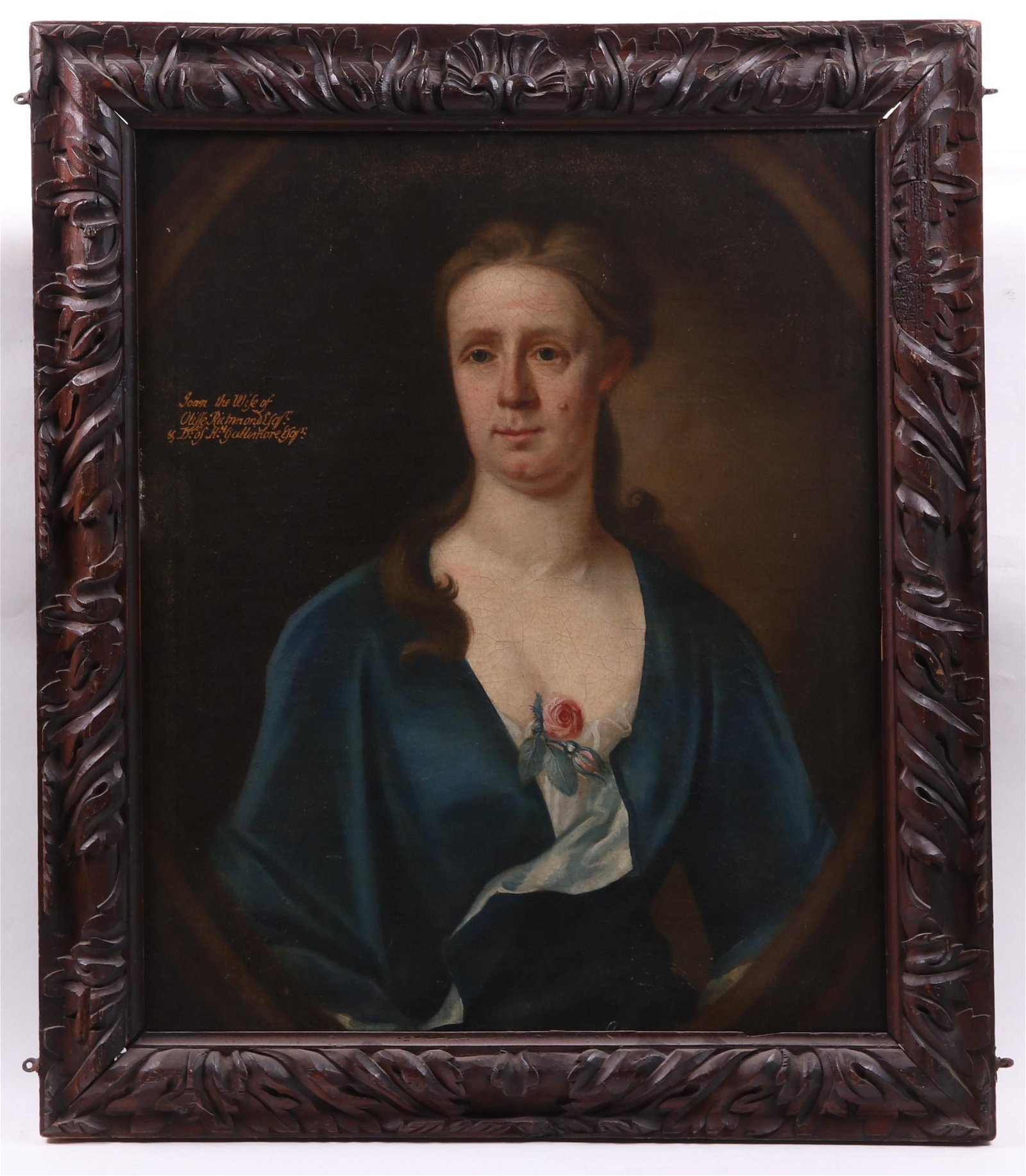 A 19th Century Portrait of a Woman, Oil on Canvas