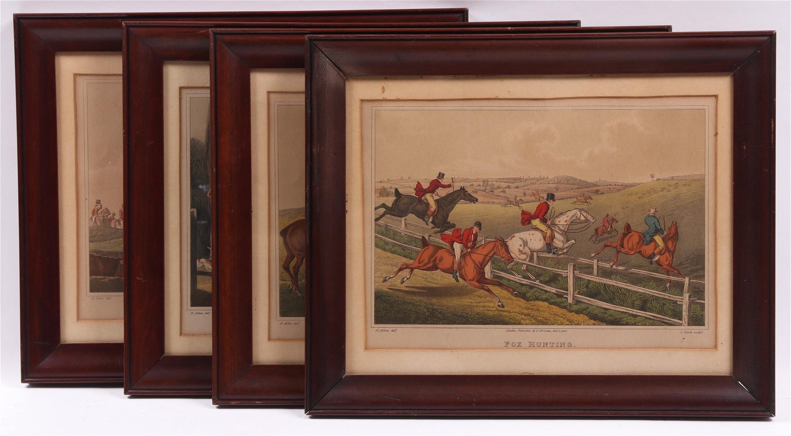 Four Fox Hunting Prints, Alken