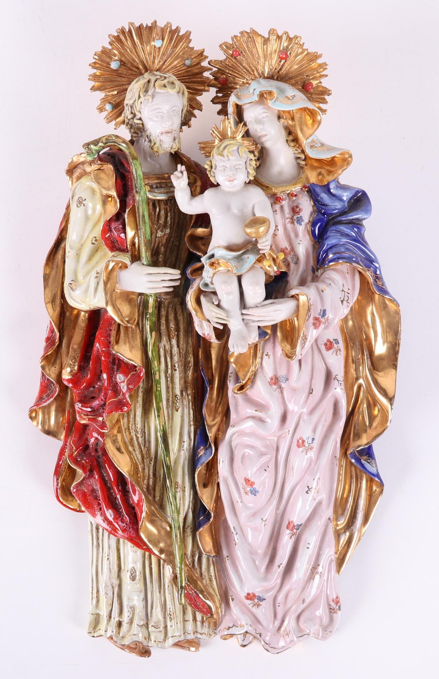 An Italian Pottery Group, Holy Family