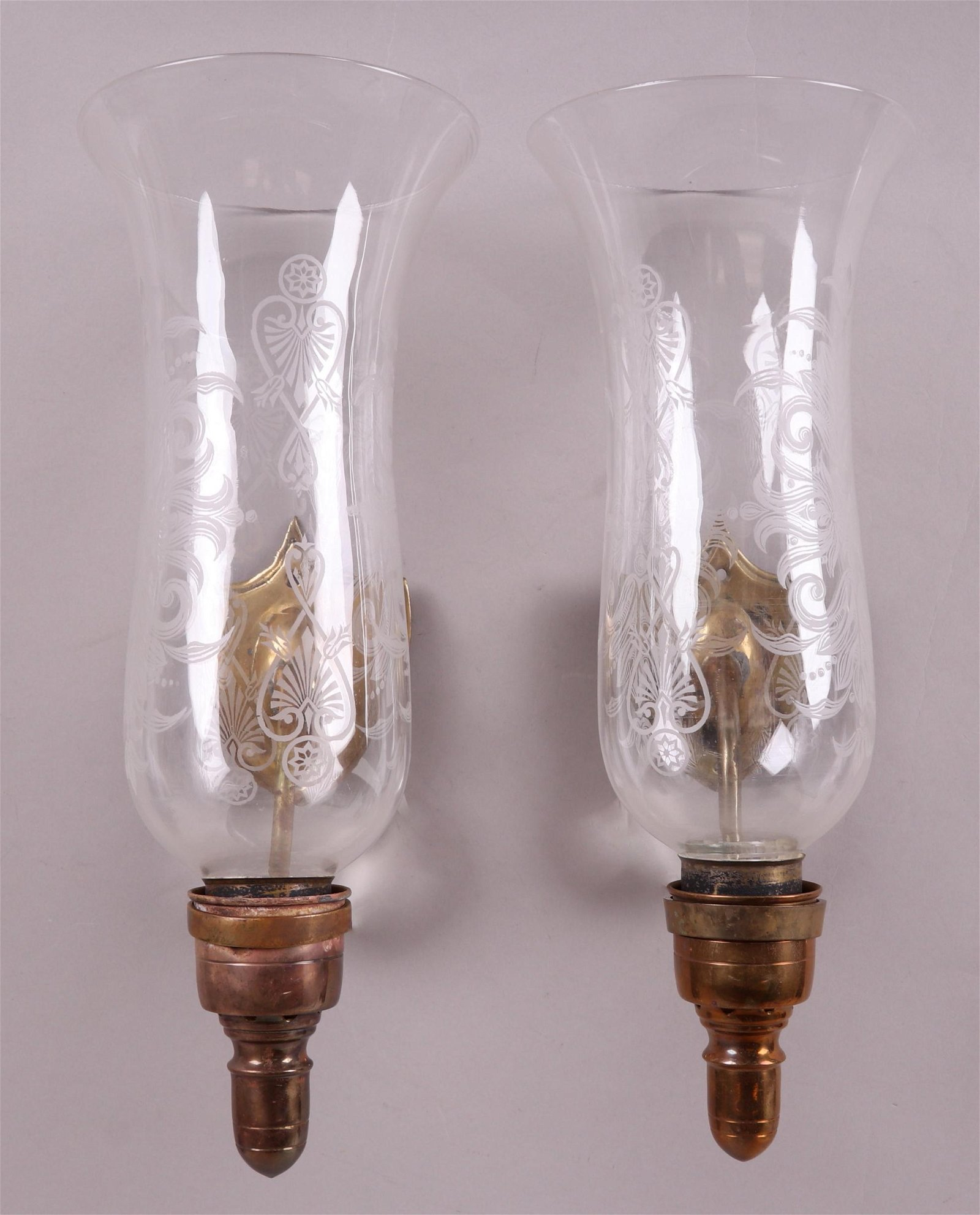 A Pair of Hurricane Wall Sconces