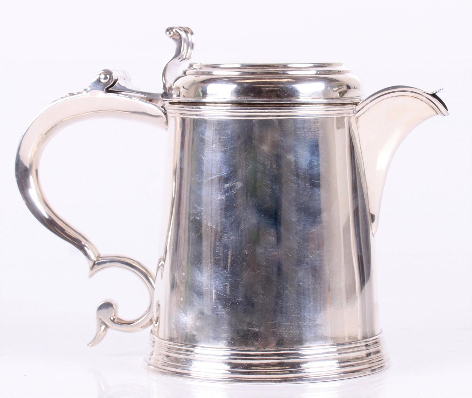 An American Coin Silver Tankard/Pitcher