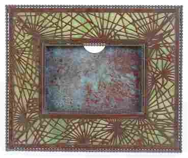 A Tiffany Studios Pine Needle Picture Frame