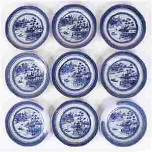 A Set of Chinese Export Plates, Canton