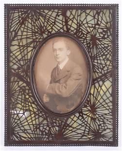 A Tiffany Studios Picture Frame, Bronze