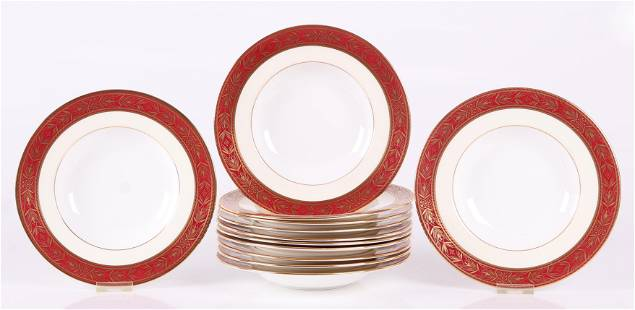 A Set of Minton for Tiffany Soup Bowls