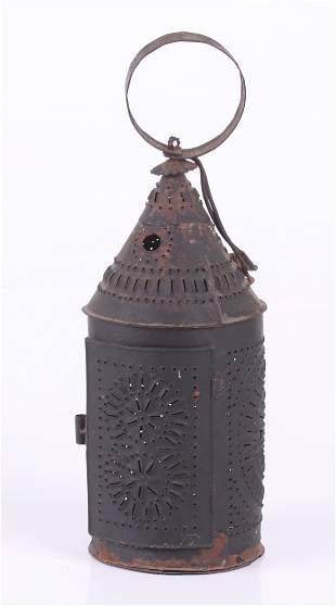A Pierced Tin Lantern, 19th Century