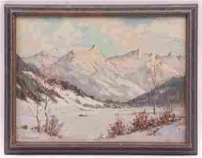 Ernst Greyer (1907 - 1983) Oil on Board